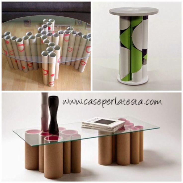 E' impressionante la quantità di oggetti che si possono realizzare con dei semplicissimi tubi di cartone, si possono impiegare in creazioni davvero pazzesc