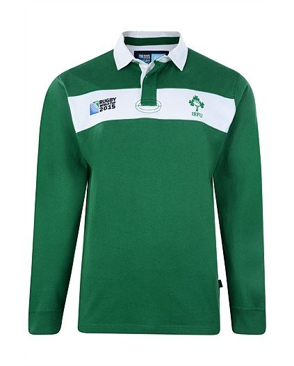 Rugby World Cup 2015 IRELAND country collection - IRFU Chestband Long Sleeve Rugby Jersey