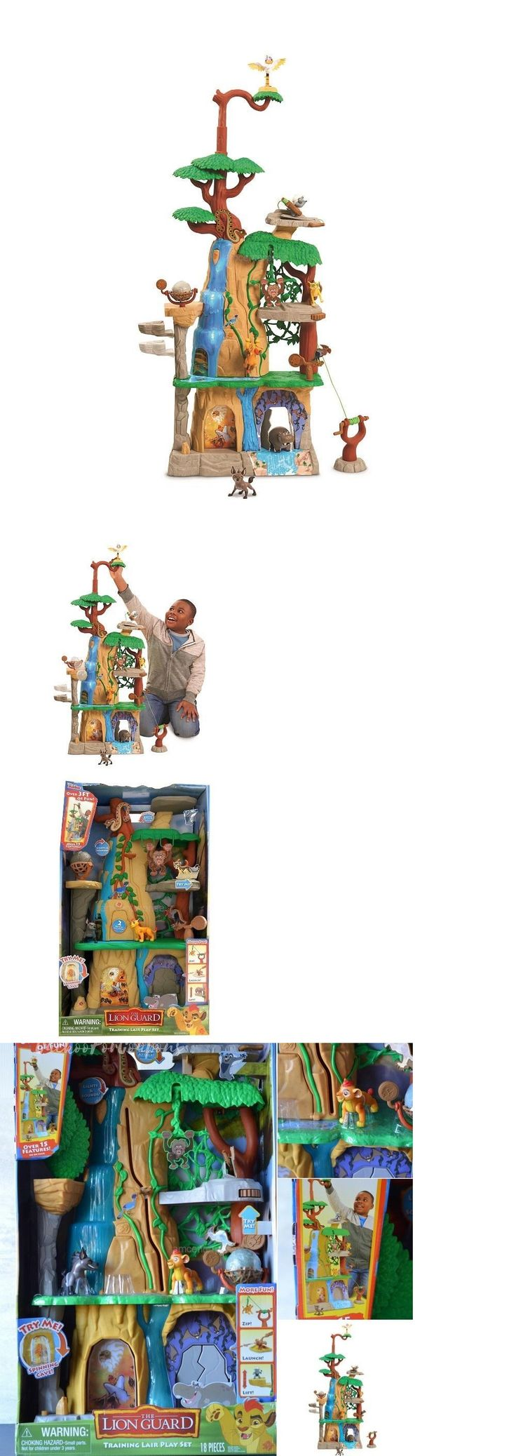 Lion King 44037: The Disney Lion Guard Training Lair Play Set 3 Foot Tall 15 Features Zipline -> BUY IT NOW ONLY: $63.99 on eBay!
