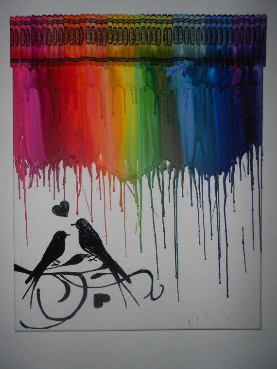 17 best images about crayon art on pinterest crayon for How to melt crayons on canvas