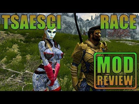 Skyrim - Brand New Tsaesci Race mod! These male/female creatures are