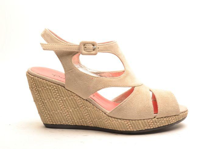 #pasderouge #shoes #summer #suede #wedge #sandal #ss14 #beige #raffia