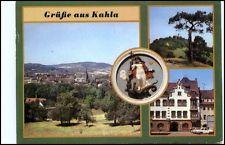 DDR Postkarte KAHLA Löbschütz Kr. Jena ua. Stadt-Wappen, Markt, Übersicht uvm.