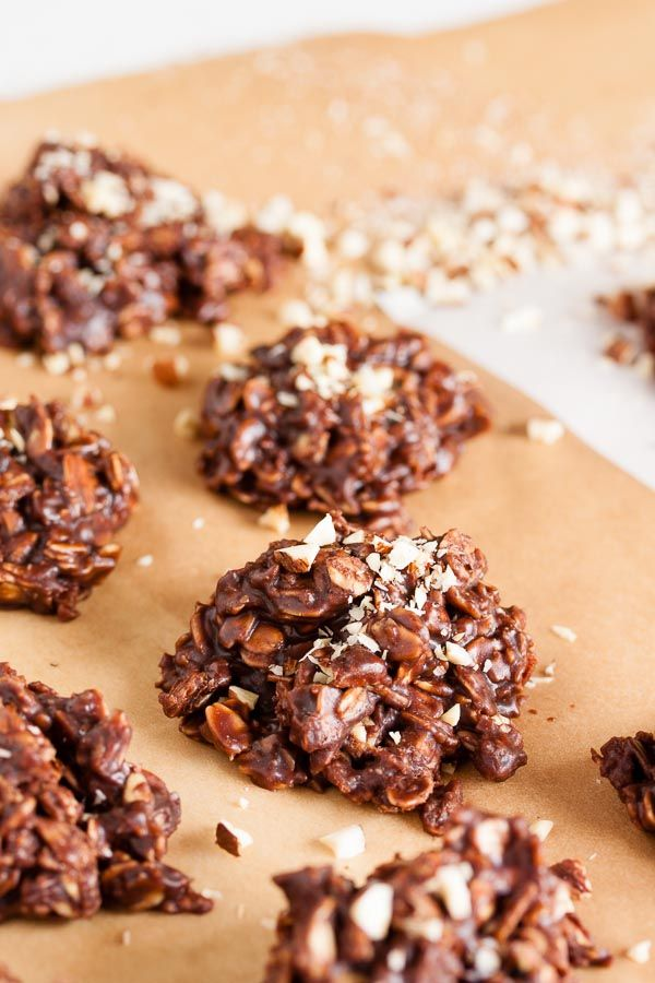 Nutella No-Bake Cookies – dense and fudgy. A perfect treat for when it's too hot to bake!