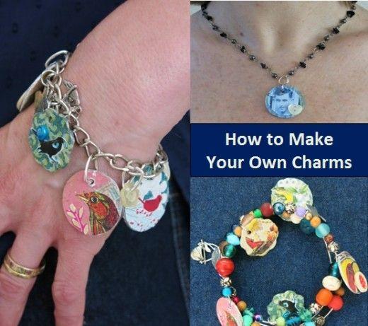 Handgemachte Charms sind eine unterhaltsame Möglichkeit, Schmuckstücke wie Armbänder …  – Handmade Jewelry