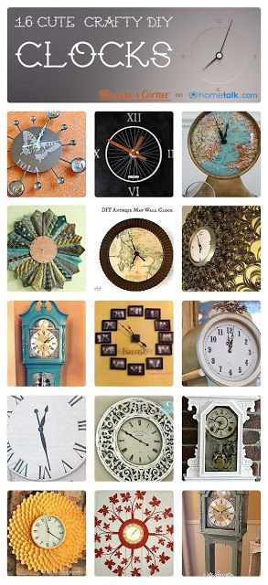 16 Cute & Crafty {DIY} Clocks! | curated by 'Morena's Corner'