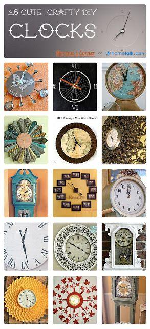 Best 25 clock ideas ideas only on pinterest beer bottle - Homemade wall clock designs ...