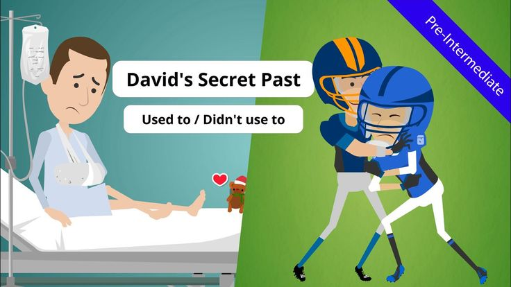 """Discover David's secret past and teach pre-intermediate level learners used to (grammar) & """"didn't use to"""" using this ESL video story."""