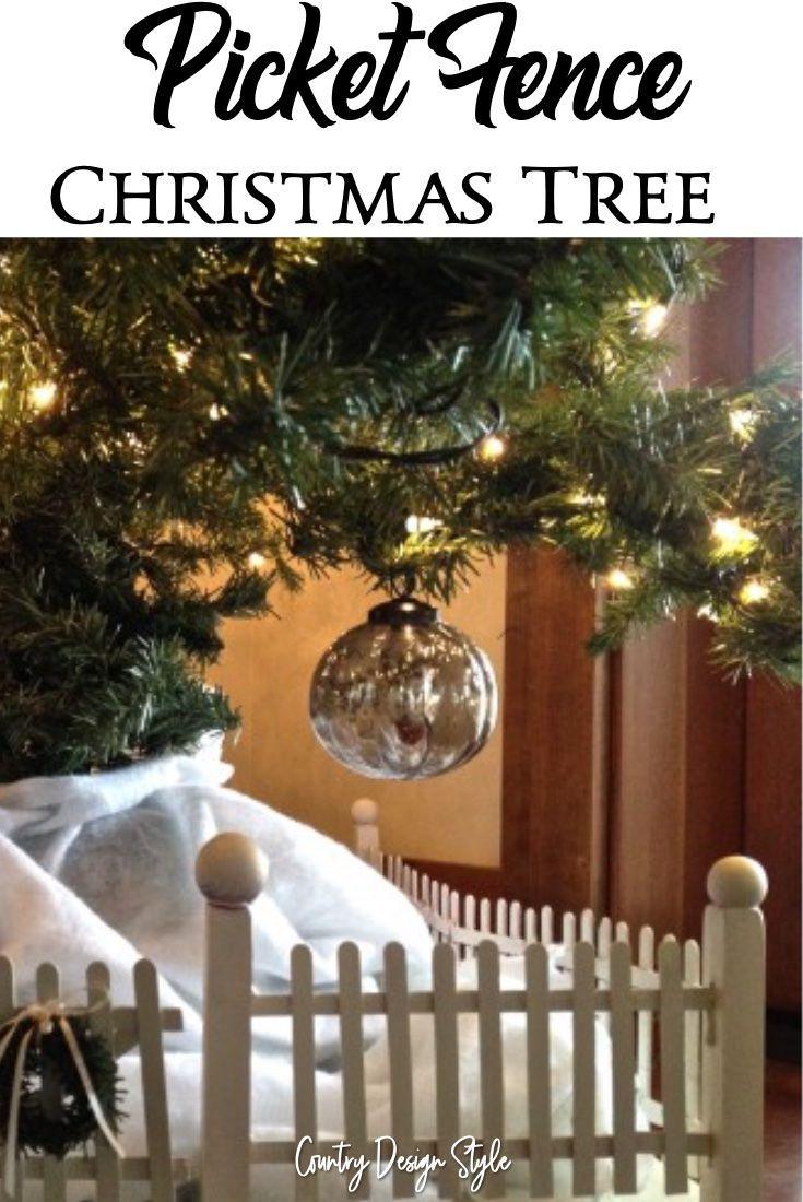 Picket Fence For Christmas Tree Christmas Tree Fence Christmas Tree Christmas