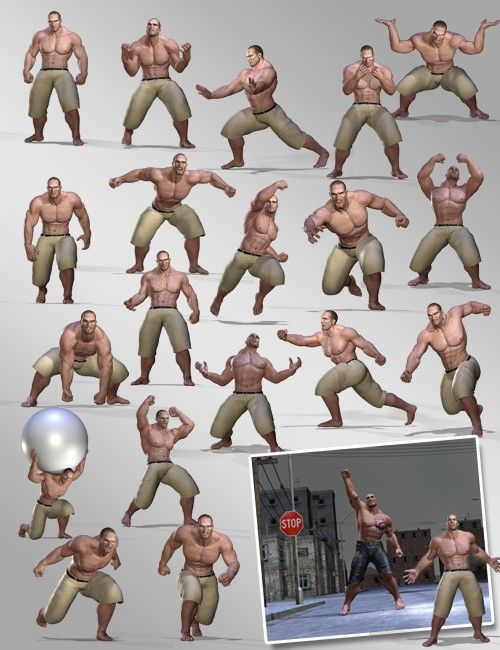 Rage Poses | 3D Models and 3D Software by Daz 3D ...