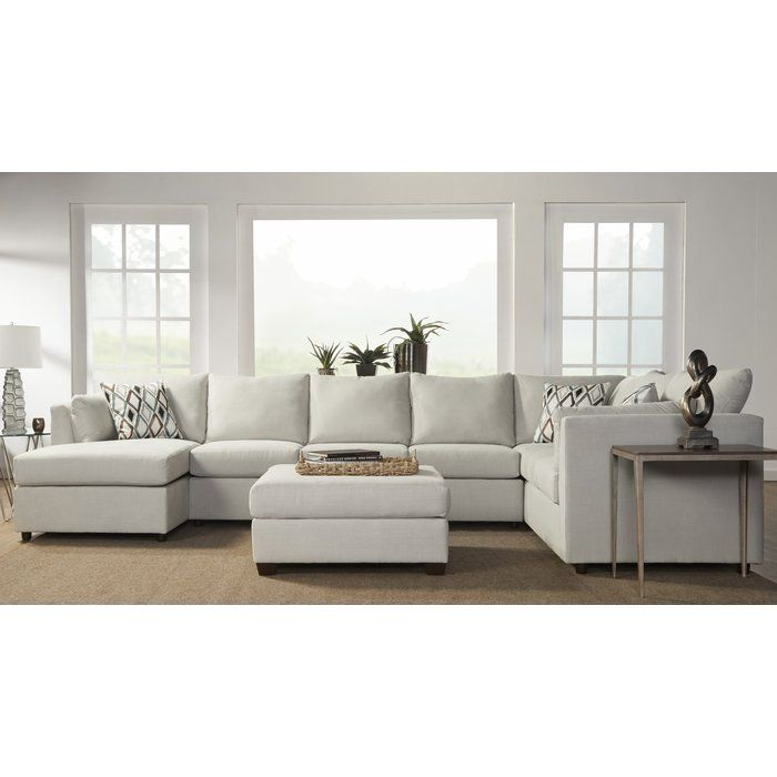 Oona 150 Sectional Modern White Living Room Sectional Sofa
