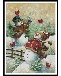 Gotta Love Snow, cross stitch pattern