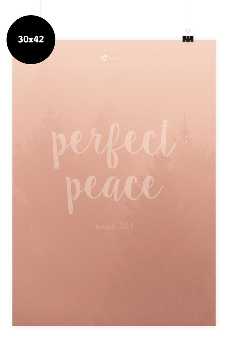 Wees geduldig wall sticker fun walls - Bibelvers Auf Dem Poster You Keep Him In Perfect Peace Whose Mind Is Stayed