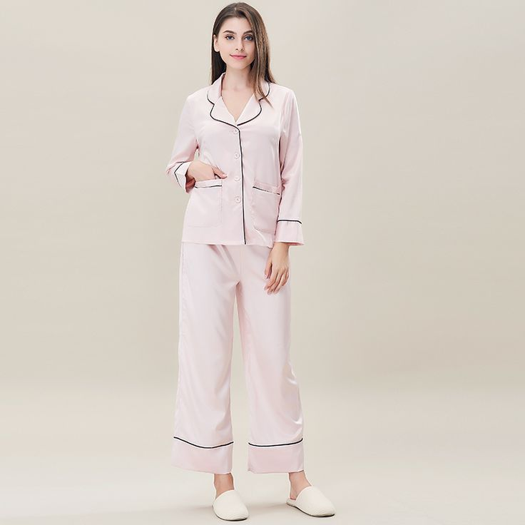 Find More Pajama Sets Information about Fashion Lady Pajamas Set Female Show Thin Leisurewear Temperament Long Sleeves Joker Slacks Pajamas Women Daily Soft Sleepwear,High Quality ladies pajamas set,China pajama sets Suppliers, Cheap pajamas women from Tryow Store on Aliexpress.com
