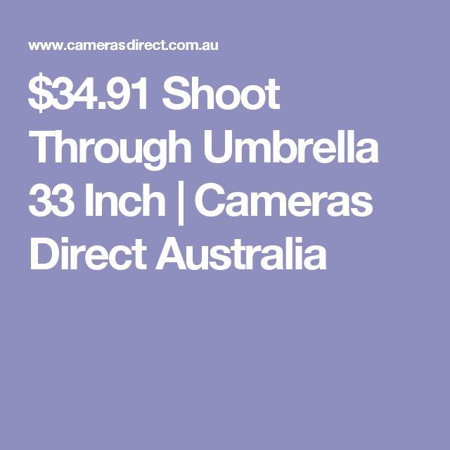 $34.91 Shoot Through Umbrella 33 Inch   Cameras Direct Australia