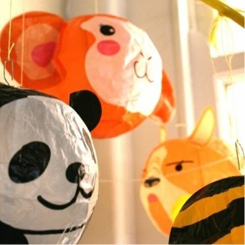 Japanese Paper Balloons Decorative Animal Heads For A Jungle Bedroom
