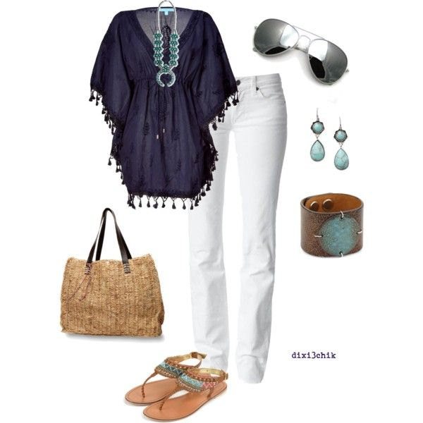 Relaxed by dixi3chik on Polyvore featuring Melissa Odabash, 7 For All Mankind, Monsoon, Quiksilver, FOSSIL and Leighelena