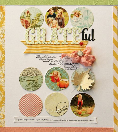 so pretty...Scrapbook Ideas, Circles, Scrapbook Layouts, Studios Calico, Danielle Flanders, Grid Layout, Nantucket, Projects Life, Daniel Flanders
