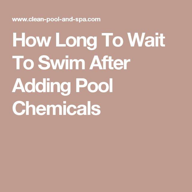 Best 25 Pool Chemicals Ideas On Pinterest