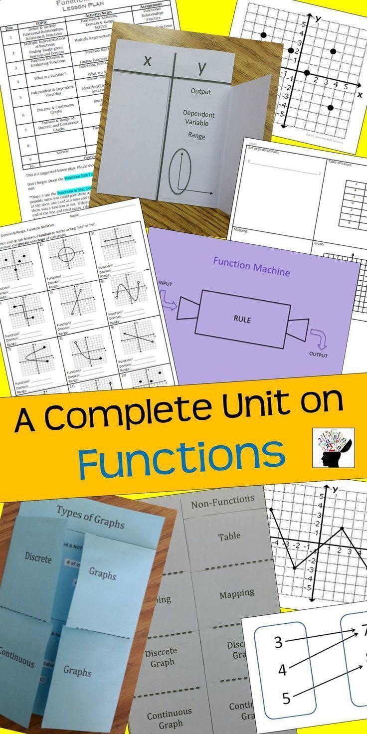 Functions Unit Bundle (A2A, A12A, A12B) Algebra 1
