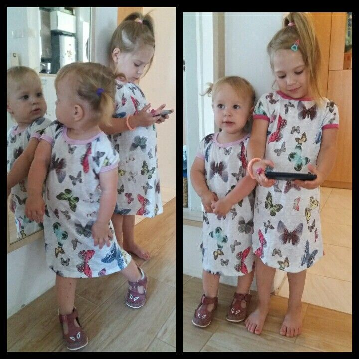 Butterfly dress for sisters