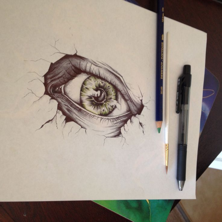 Drawing pen colour pencil eye illustration