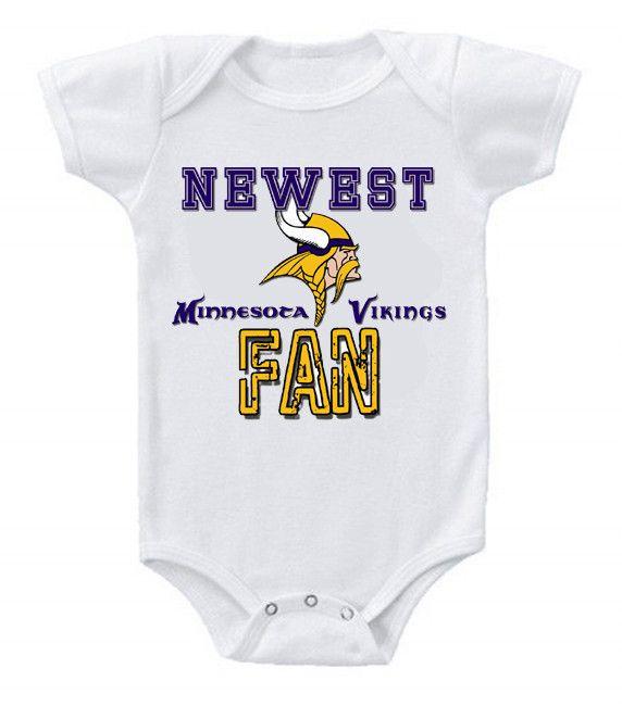 c8c0c961a ... Romper NEW Football Baby Bodysuits Creeper Minnesota Vikings 3 ...