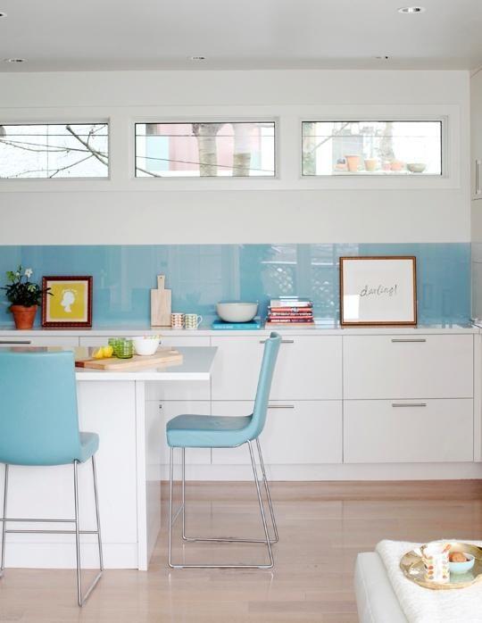 Cristal en el frente de cocina