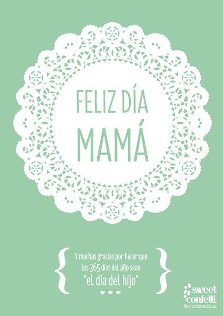 Se acerca mayo, el mes de la madre en el mundo, por eso os dejo algunas ideas para felicitar a las mamás el próximo día 4, como estos imprimibles, carteles e ilustraciones que he encontrado navegando en internet y que me han parecido súper especiales.