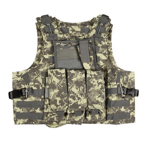Professional Adjustable Tactical Vest Military Molle Combat Assault Plate Carrier Vest FE#