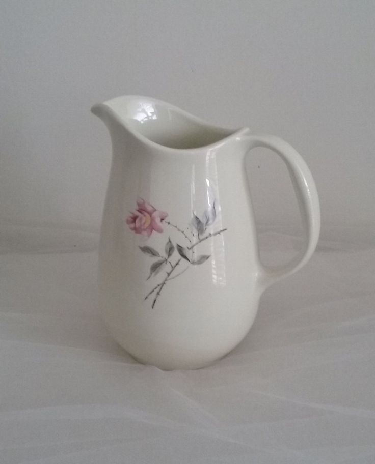 Rosette by Universal Potteries//Vintage Ballerina Pitcher//Pitcher Rosette Universal by pjspasttreasures on Etsy