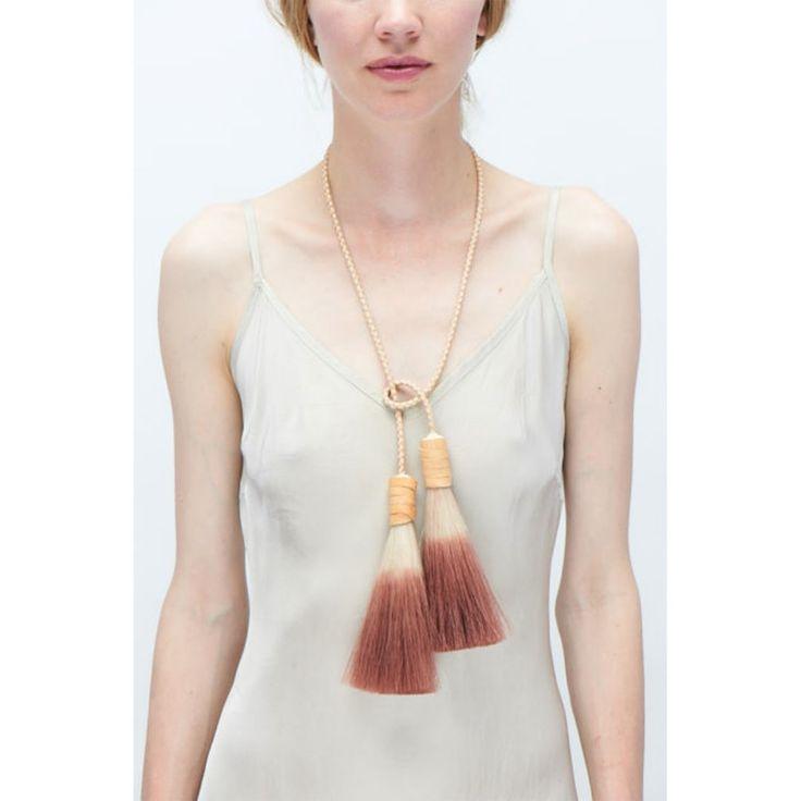 Изображение двойной кисточкой Lariat ожерелье (также доступны в качестве ПОЯСА)