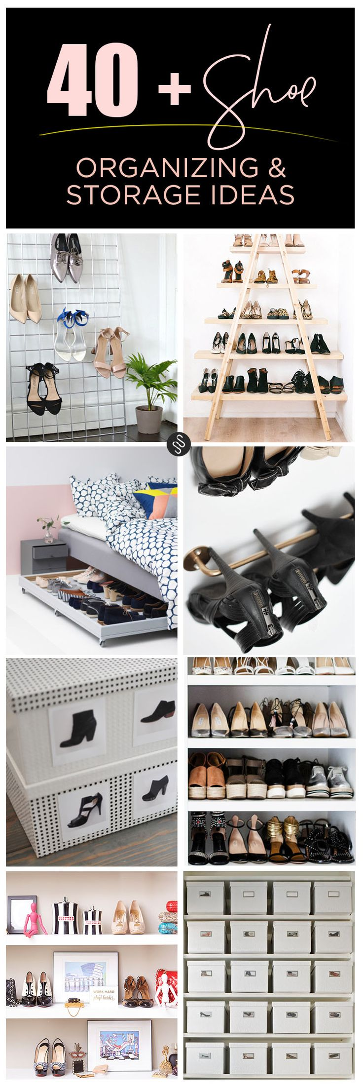 Shoe organizing and storage ideas organized