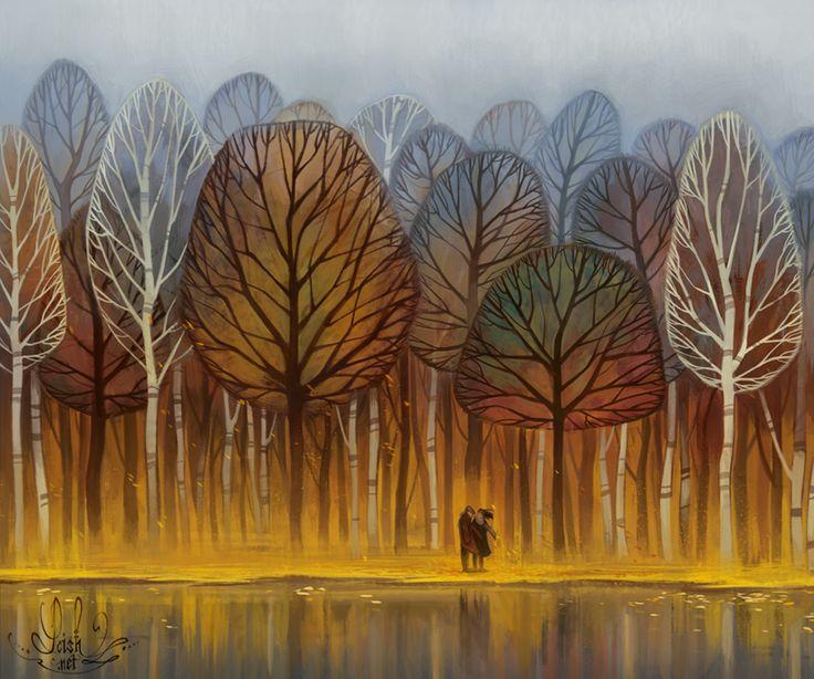 autumn by loish.deviantart.com on @DeviantArt