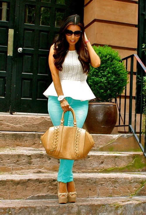 Peplum  , Zara in Shirt / Blouses, Zara in Jeans, Bakers in Heels / Wedges
