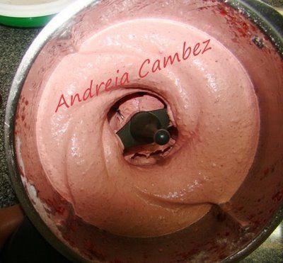 Receita Bimby - Gelado de morango de Maravilhas na Cozinha - Andreia Cambez