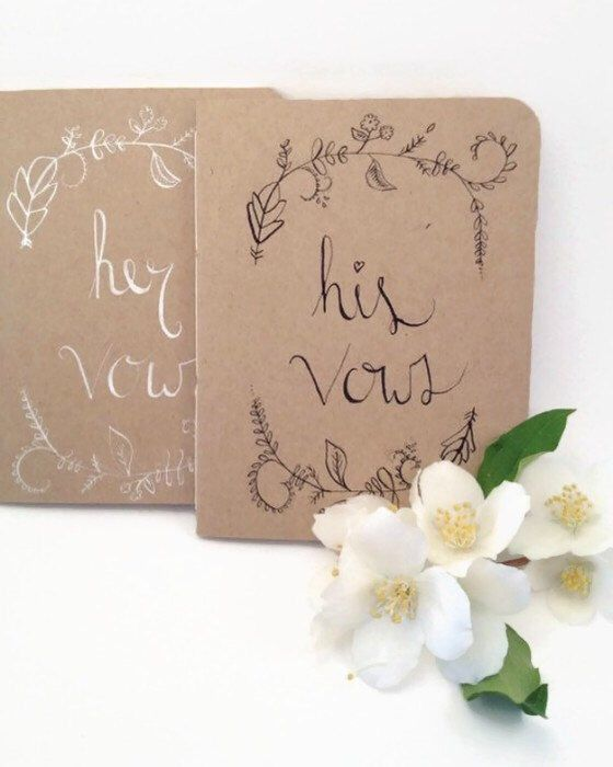 Wedding Vow Book - His and Hers - Woodland Wedding Decor - Vow books - Wedding vows - Gift for Engagement Party - Bride to be Gift by Noteworthydesignsco on Etsy https://www.etsy.com/listing/195213354/wedding-vow-book-his-and-hers-woodland