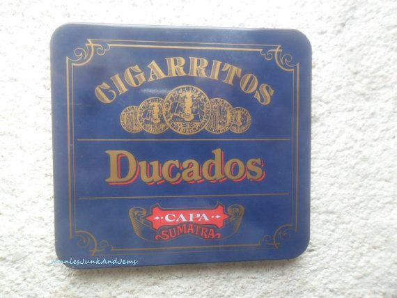 Found in France  Vintage Cigar Tin  CIGARRITOS DUCADOS by TinTack, €15.00
