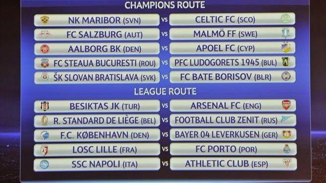 RADIO CORAZÓN  DEPORTIVO: UEFA CHAMPIONS LEGUE:PLAY-OFFS (19/20 Y 26/27 DE A...