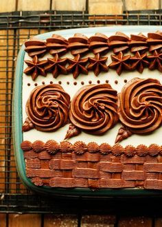 An easy and delicious Chocolate Buttercream with no shortening. Perfect for piping decorative borders, making roses, or to use as frosting.
