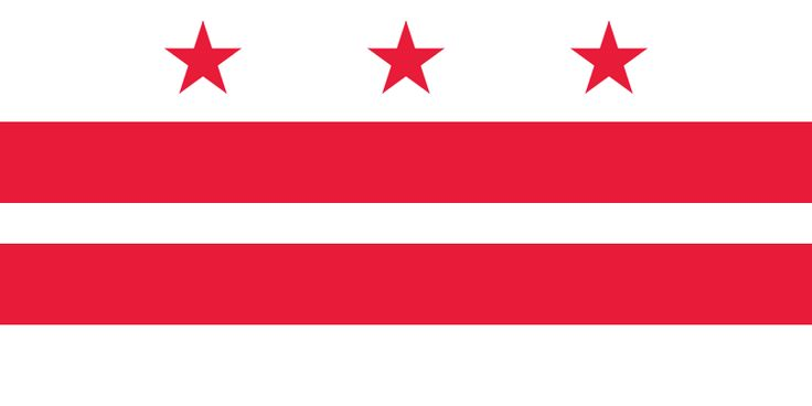 Flag of Washington, D.C. (District of Columbia)