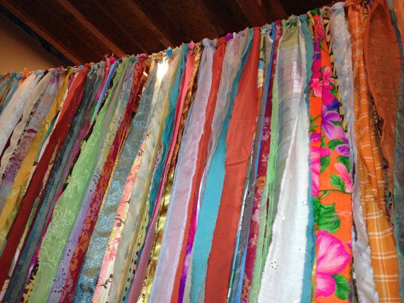 Hippie Teen Boho Garland Fabric Garland Bedroom Decor Wedding or Shower Decoration 90 X 42 on Etsy, $75.00