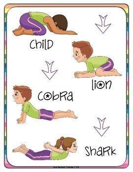 printable yoga cards with yoga poses for kids with bonus