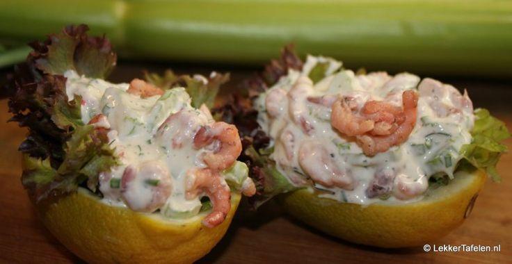 Coole salade van Hollandse garnalen | Lekker Tafelen