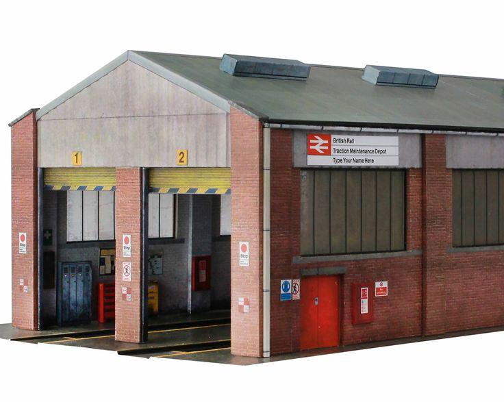 R023a Diesel Depot Scalescenes Model railway, Building