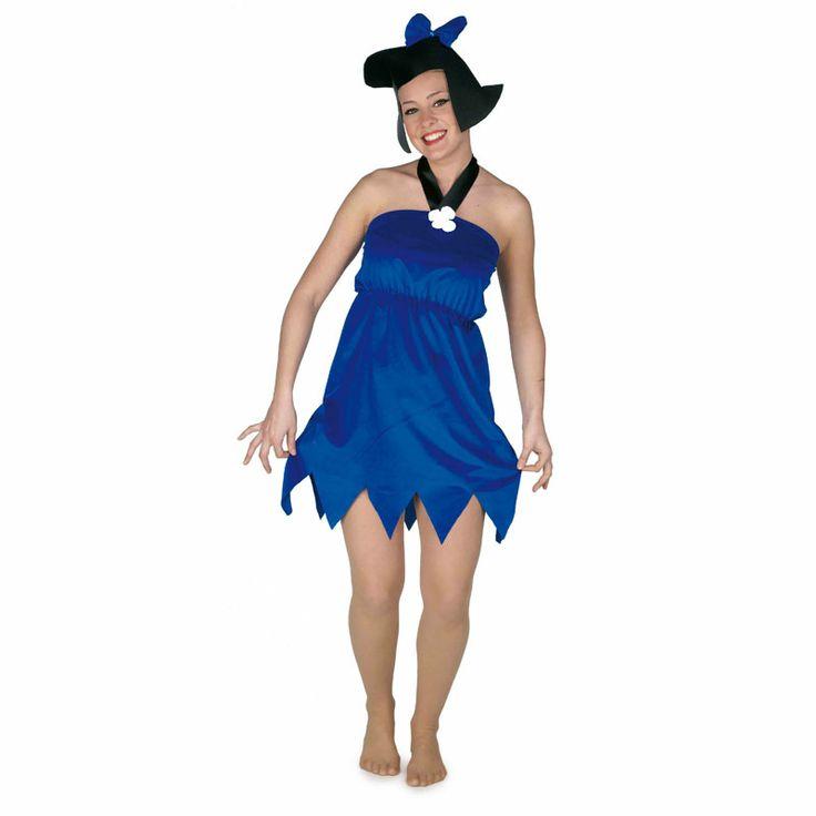 No hay mejor forma de completar nuestra pareja de Picapiedra que con este modelo de Betty Mármol, vecina y amiga íntima de Wilma Picapiedra. Un modelo muy sencillo pero original que incluye incluso un tocado en forma de peluca.
