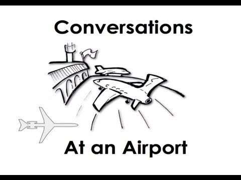 At an Airport. Easy English Conversation Practice.