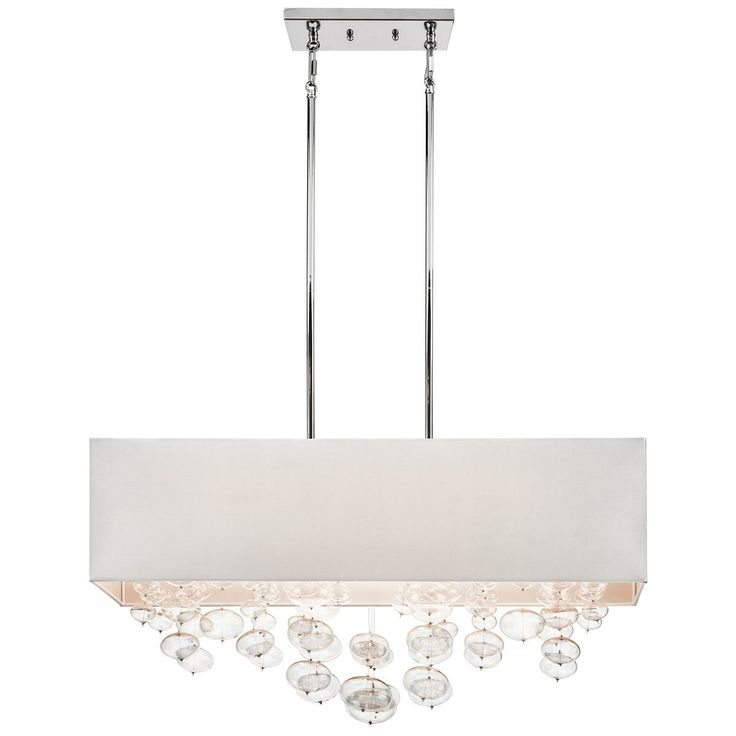 Rectangle Shade and Glass Bubbles Island Chandelier - 74 Best Kitchen Lighting Images On Pinterest Kitchen Lighting