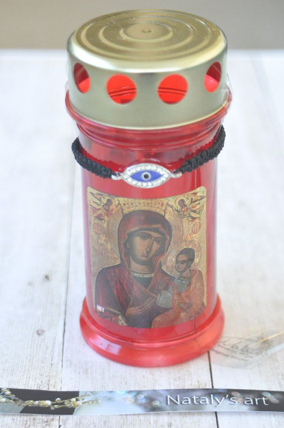 Easter Candle Orthodox Easter lambada Pascha lambada Orthodox Easter with Bracelet Orthodox by NatalysWeddingArt