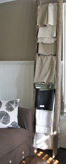 Charming Wonderful Use For A Vintage Ladder   (if You Only Have Gorgeous Blankets.